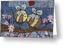 Beeing In Love Greeting Card by Julie Bull
