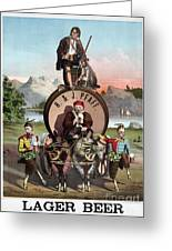 Beer Ad C1870 Greeting Card