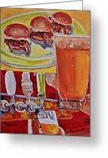 Beer And Pork Sliders Greeting Card