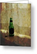 Beer Bottle On Windowsill Greeting Card