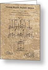 Beer Brewery Patent Illustration Greeting Card
