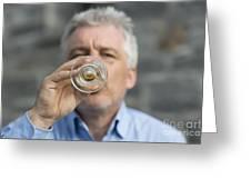 Beer Drinker Greeting Card