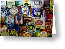 Beer Labels Greeting Card by Richard Reeve