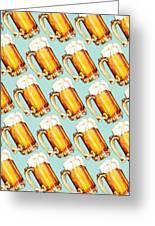Beer Pattern Greeting Card