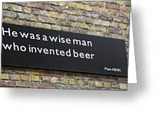 Beer Sign Greeting Card