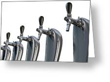 Beer Tap Row Isolated Greeting Card