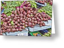 Beets At The Farmers Market Greeting Card
