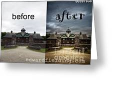 Before And After Greeting Card by Edward Fielding