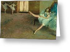 Before The Ballet Greeting Card