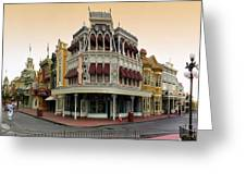 Before The Gates Open Magic Kingdom Main Street. Greeting Card