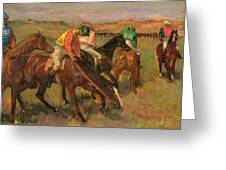 Before The Races Greeting Card
