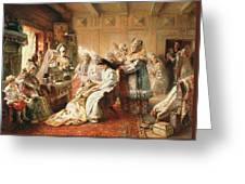 Before The Wedding, 1890 Oil On Canvas Greeting Card