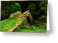 Beggars Bridge In Glaisdale North Yorkshire Greeting Card
