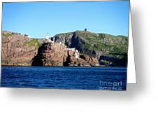 Behind Fort Amherst Rock 2 By Barbara Griffin Greeting Card