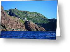 Behind Fort Amherst Rock By Barbara Griffin Greeting Card