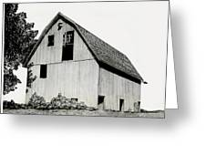 Behind The Barn Greeting Card by Todd Spaur