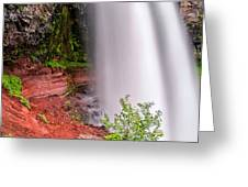Behind The Falls Greeting Card