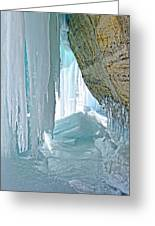 Behind The Ice Greeting Card