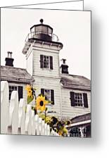 Behind The Lighthouse  Greeting Card