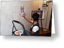 Behind The Scenes Mural 2 Greeting Card