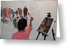 Behind The Scenes Mural 4 Greeting Card