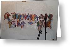 Behind The Scenes Mural 7 Greeting Card