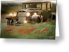 Behind The Wheel Greeting Card by Edmund Nagele