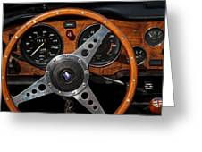 Behind The Wheel Greeting Card by Odd Jeppesen