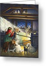 Behold The Child Greeting Card by Lynn Bywaters