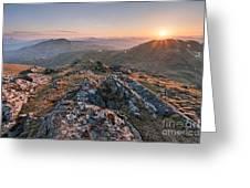 Sunset From Beinn Ghlas - Scotland Greeting Card