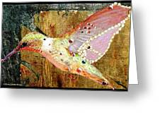 Bejeweled Hummingbird Greeting Card