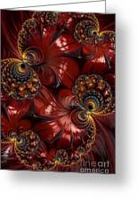 Bejewelled Crimson Greeting Card