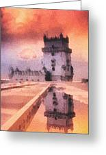 Belem Tower Greeting Card