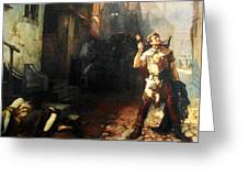 Belgian Ferdinand Pauwels The Plague In Ypres Greeting Card