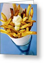 Belgian Fries With Mayonnaise On Top Greeting Card