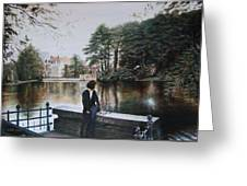 Belgium Reflections In Water Greeting Card