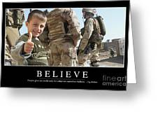 Believe Inspirational Quote Greeting Card