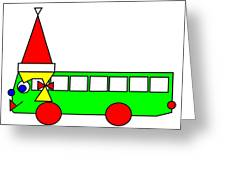 Belinda The Bus Wishes You A Merry Christmas Greeting Card