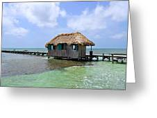 Belize Pier And Seascape Greeting Card