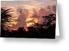 Belizean Sunset Greeting Card