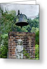 Bell Brick And Statue Greeting Card