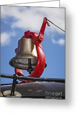 Bell On Steam Engine Greeting Card