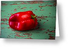 Bell Pepper On Green Board Greeting Card