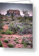 Bell Rock At Dusk Greeting Card
