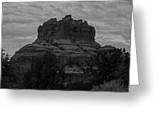 Bell Rock In Black White Greeting Card