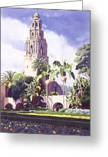 Bell Tower In Balboa Park Greeting Card