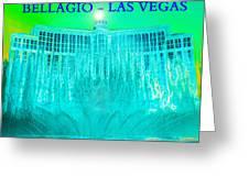 Bellagio Fountains Las Vegas Greeting Card