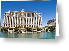 Bellagio Resort And Casino Panoramic Greeting Card