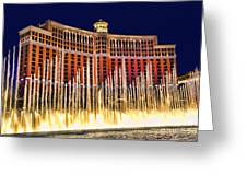 Bellagio Water Show Greeting Card