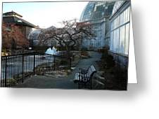 Belle Isle Conservatory Courtyard Greeting Card